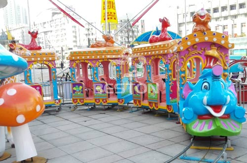 kids electric track train rides