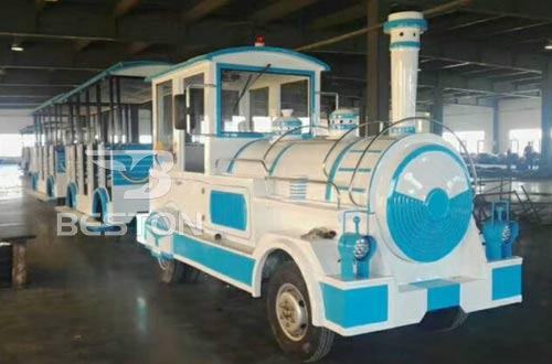 amusement park train trackless rides prices