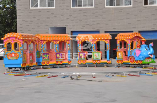 elephant backyard track train amusement rides with best prices