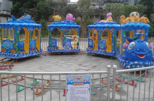ocean themed track train rides manufacturer