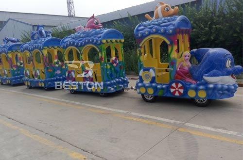 ocean amusement train rides for malls or parties
