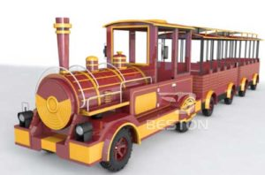 Beston kids electric trackless trains for sale