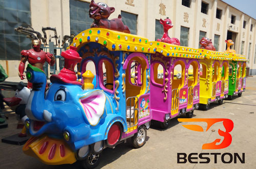 elephant amusement park trams for sale